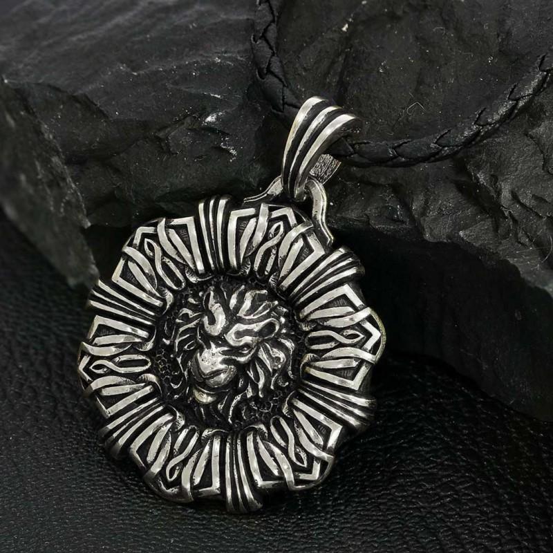 925 Ayar Gümüş Aslan Kolye