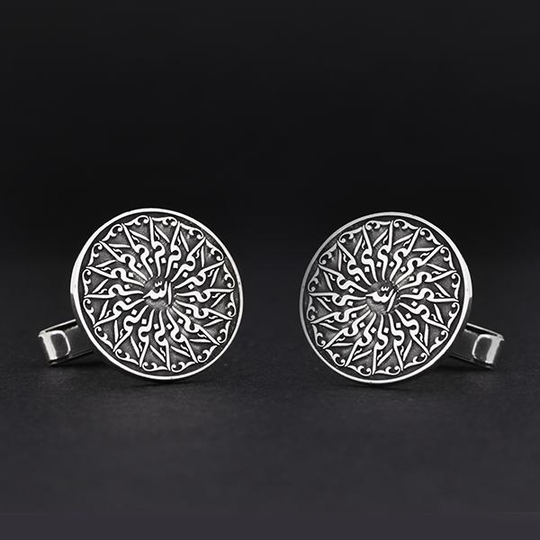 925 Ayar Gümüş Motifli Kol Düğmesi