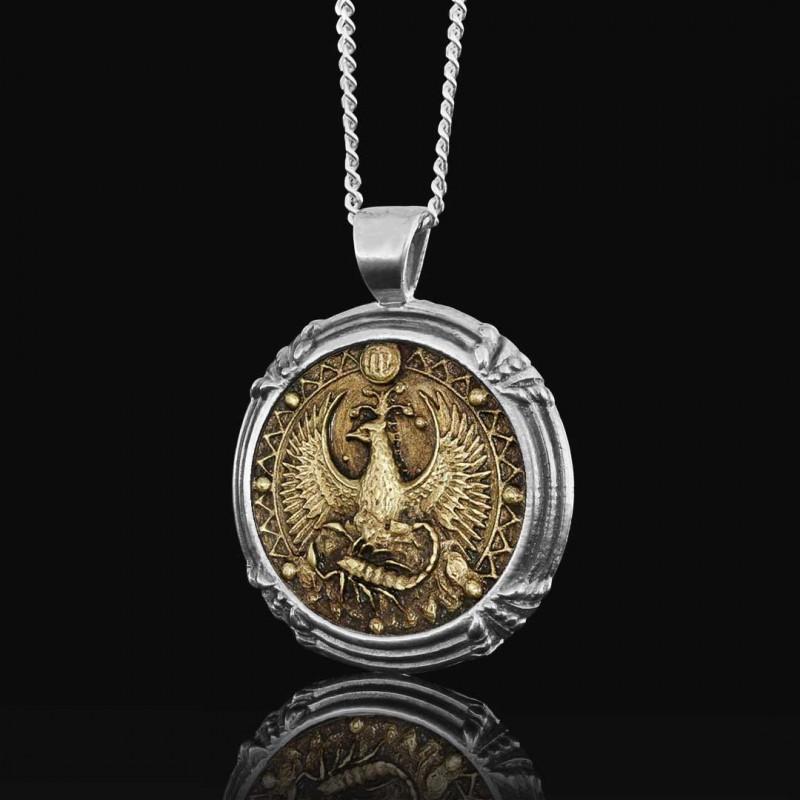 Akrep Burcu Kolye Gümüş