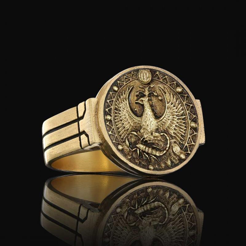 Akrep Burcu Yüzük Gümüş 925 Ayar