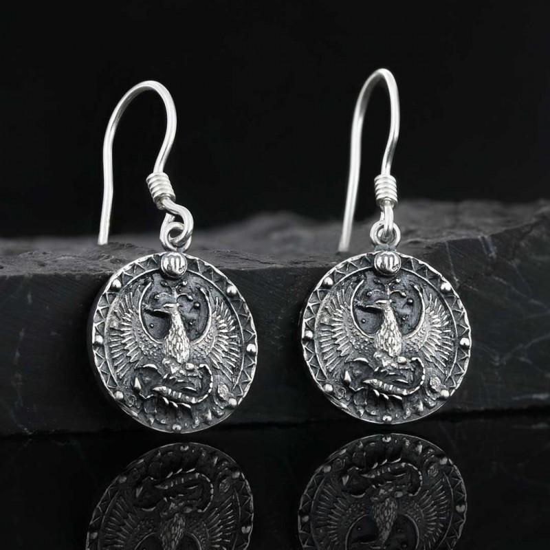 Akrep Burcu Küpe Gümüş 925 Ayar