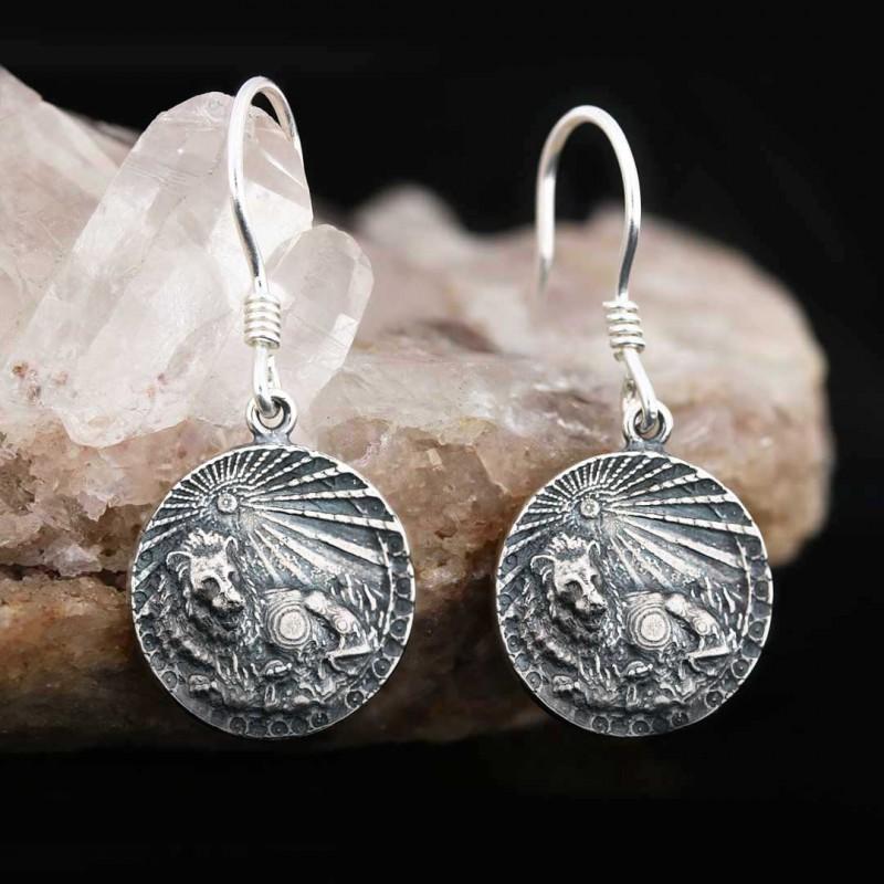 Aslan Burcu Küpe Gümüş 925 Ayar