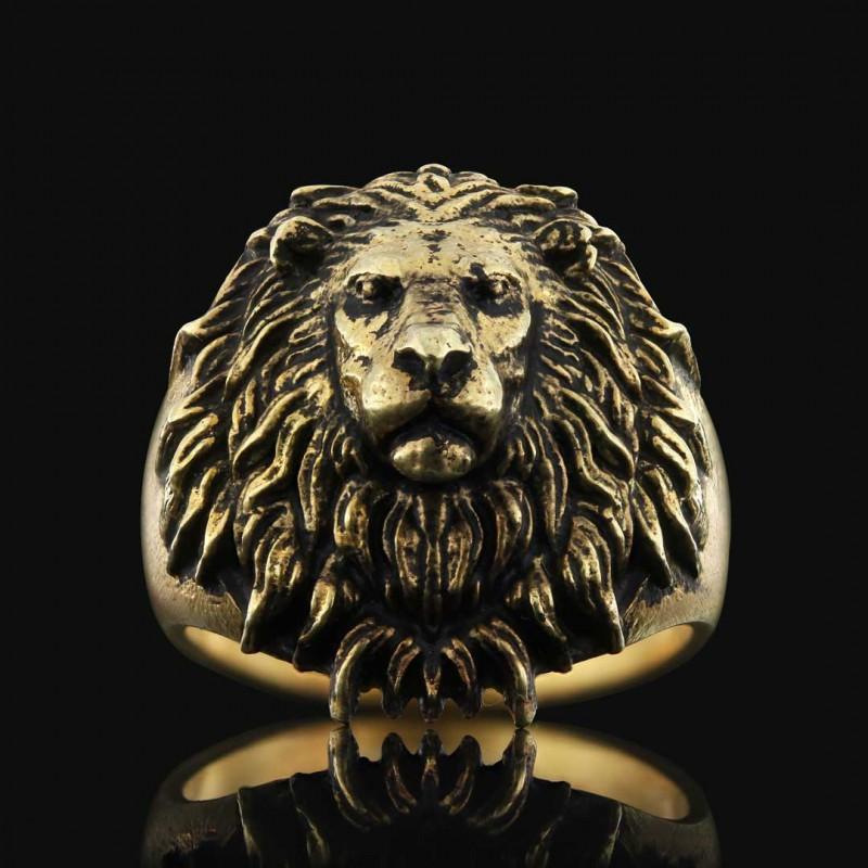 Aslan Yüzük Gümüş 925 Ayar