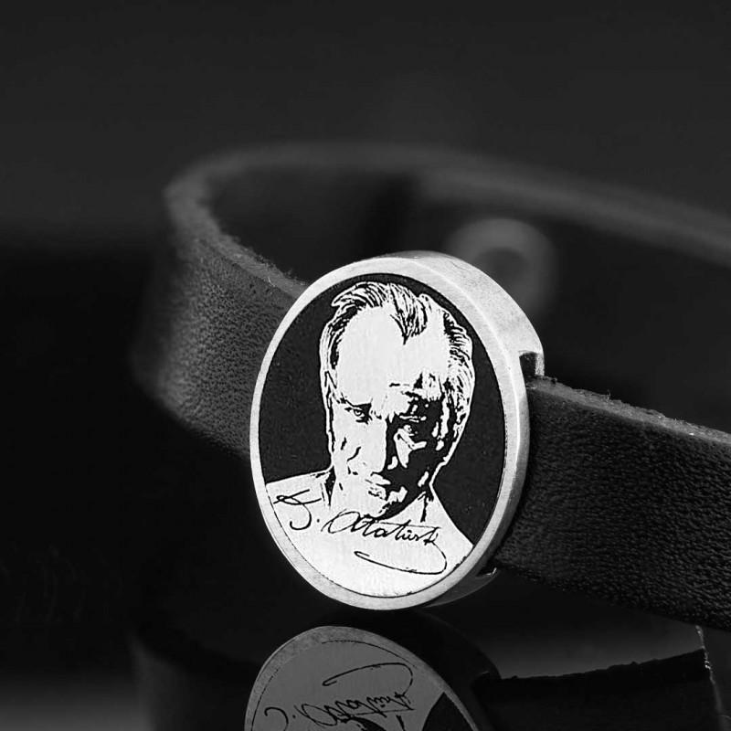 Atatürk Fotoğraflı Bileklik