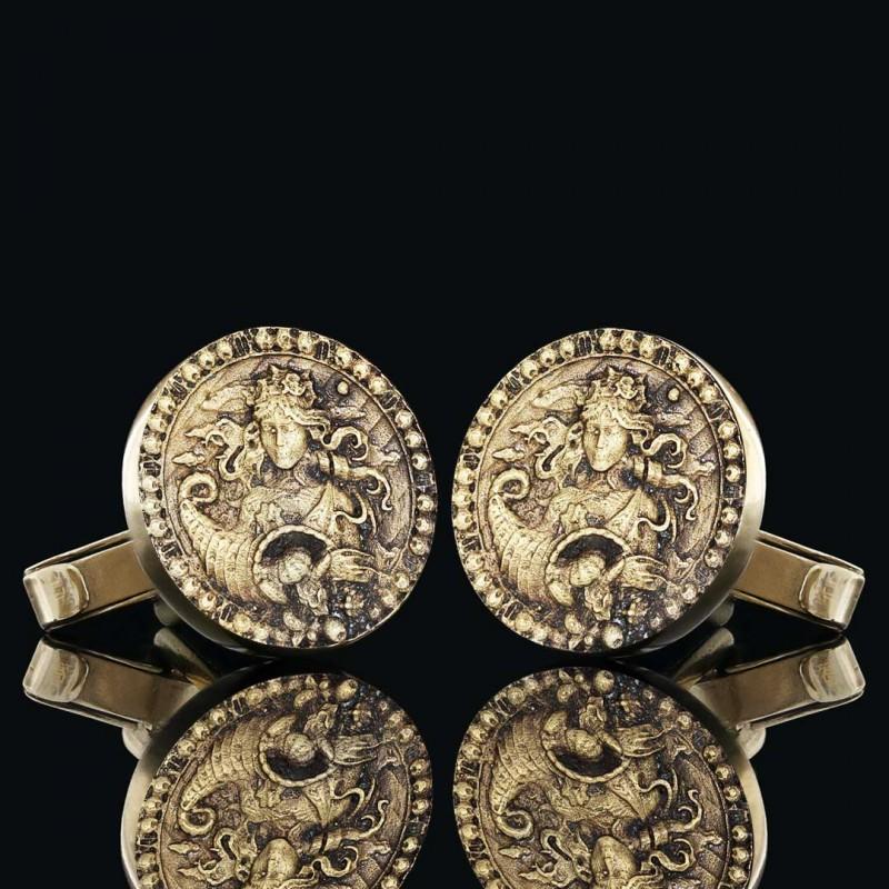 Başak Burcu Kol Düğmesi Gümüş 925 Ayar