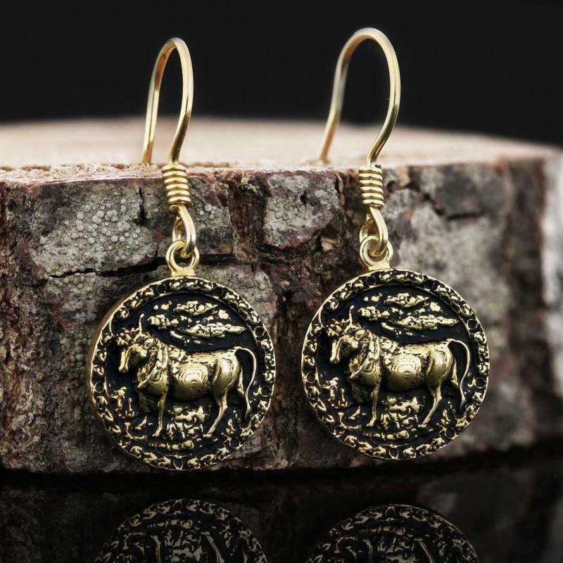 Boğa Burcu Küpe Gümüş 925 Ayar