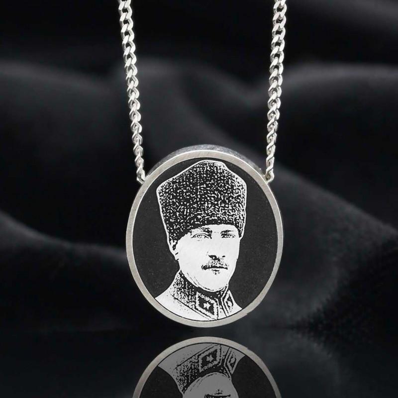 Fotoğraflı Atatürk Kolye