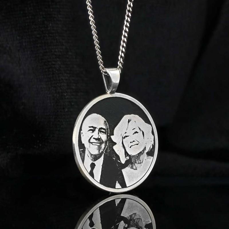 Fotoğraflı Gümüş Kolye