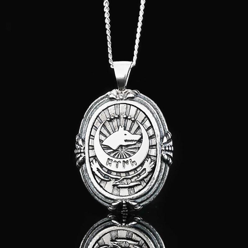 Göktürkçe Türk Yazan Kolye Gümüş 925 Ayar