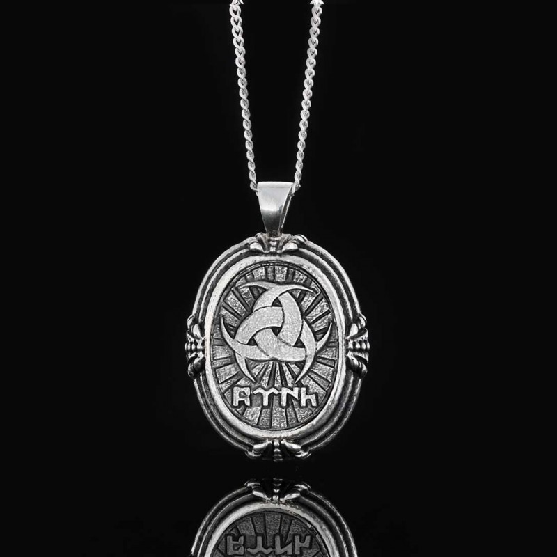 Göktürkçe Türk Yazılı Gümüş Kolye 925 Ayar