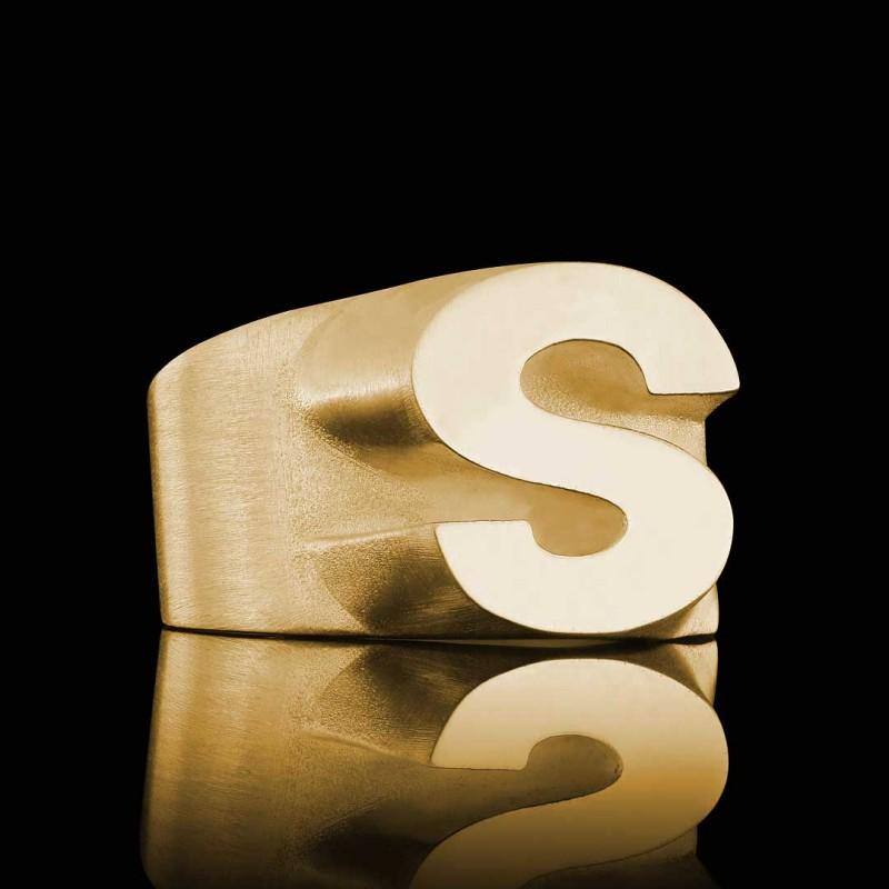 Gümüş Alfabe S Yüzük