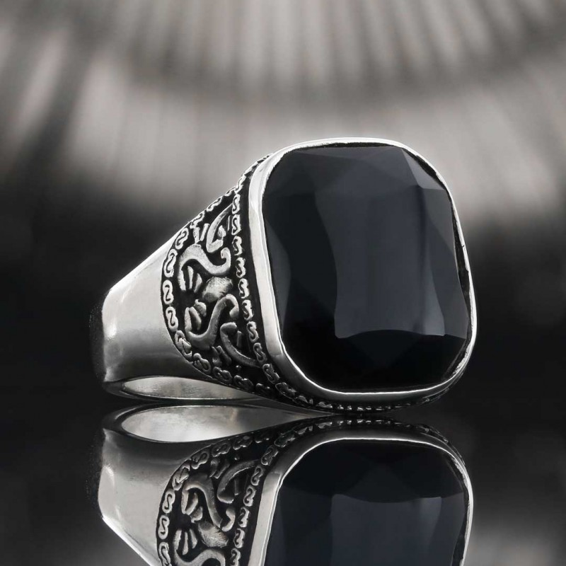 Gümüş Motifli Yüzük