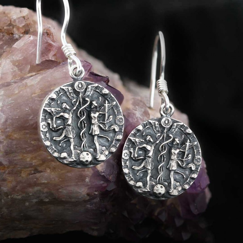 İkizler Burcu Küpe Gümüş 925 Ayar