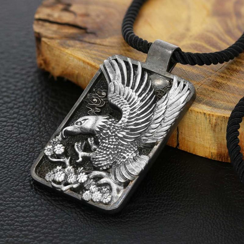 Kartal Kolye Gümüş Erkek 925 Ayar