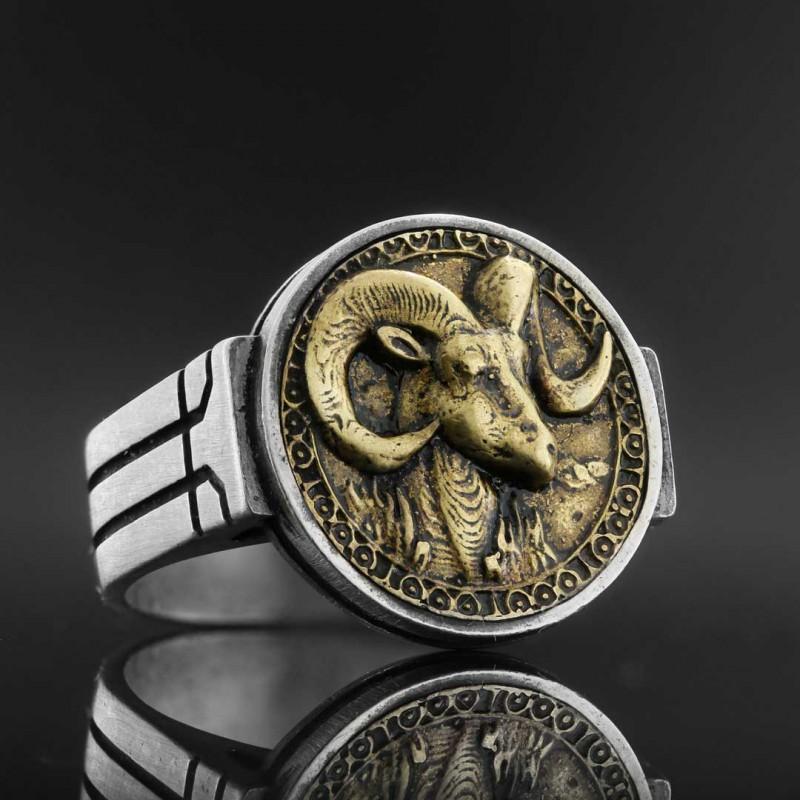 Koç Burcu Yüzük Gümüş 925 Ayar