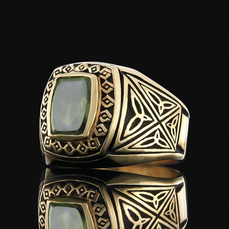 Motifli Gümüş Erkek Yüzüğü