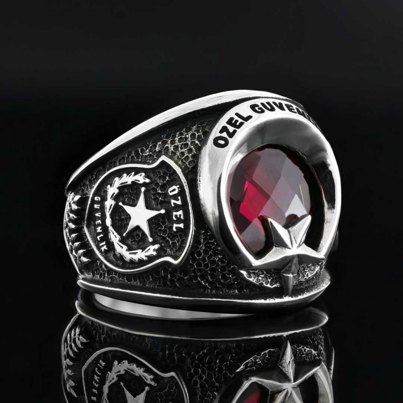 925 Ayar Gümüş Özel Güvenlik Yüzüğü