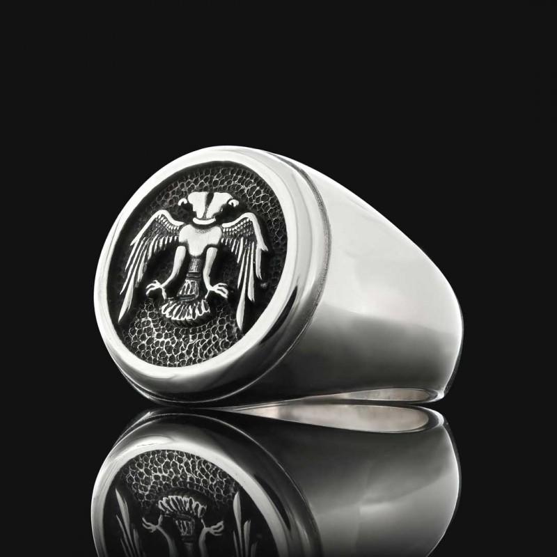 Selçuklu Kartallı Gümüş Yüzük