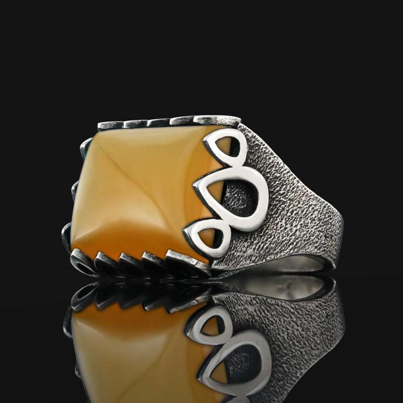 Taşlı 925 Ayar Gümüş Yüzük