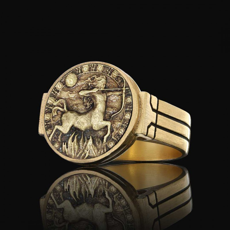 Yay Burcu Yüzük Gümüş 925 Ayar