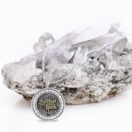 Yuvarlak Taşlı Gümüş İsimli Kolye